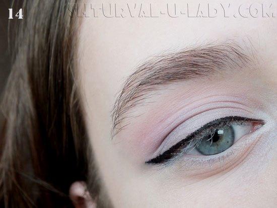 Макияж глаз в сиреневых тонах со стрелкой