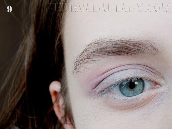 Растушевка теней в лилово-сиреневых тонах