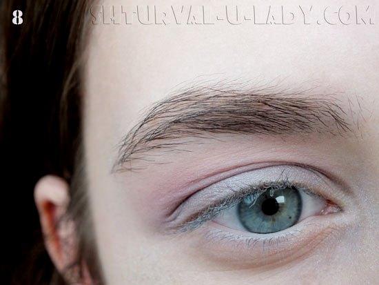 Нанесенные тени на глаза