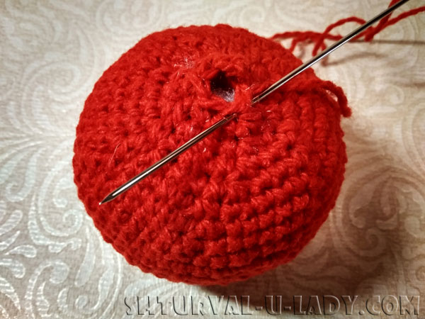 Амигуруми красное яблоко изготовление