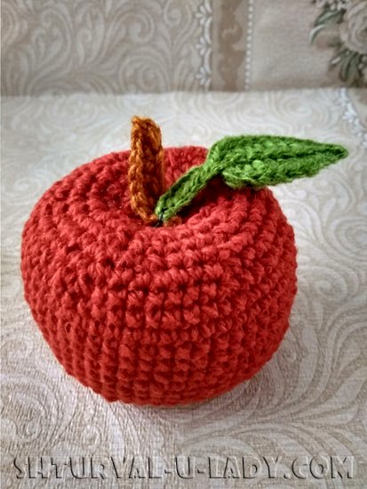 Амигуруми яблочко красное