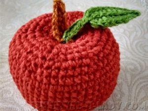 Амигуруми яблоко