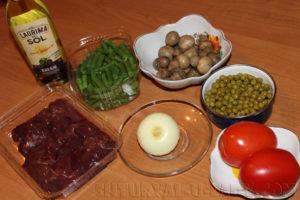 Ингредиенты для печеночного салата
