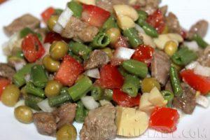 Печеночно-овощной салат