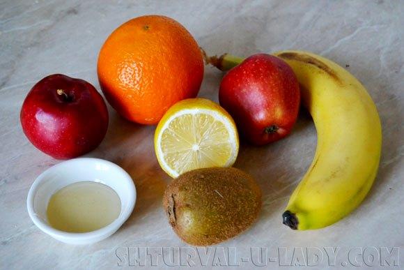 Ингредиента для фруктового салата с медом