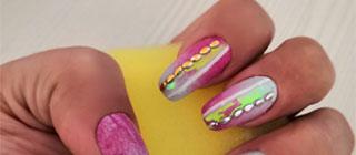 Маникюр градиент на ногтях