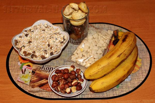 Ингредиенты для приготовления батончиков мюсли