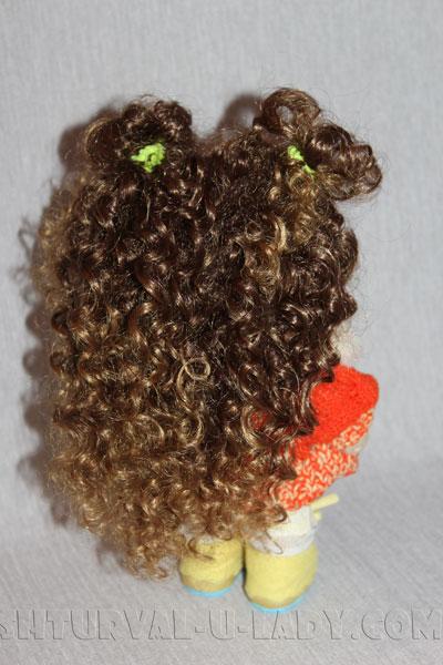 Кукла текстильная вид сзади
