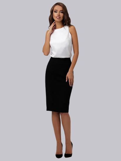Классический образ белый топ, юбка карандаш