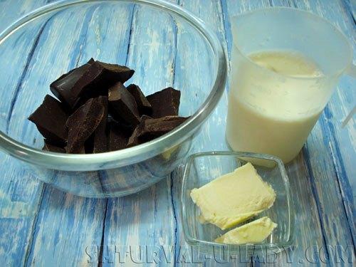 Ингредиенты для крема ганаш