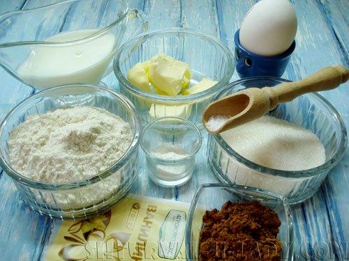 Ингредиенты для теста капкейков