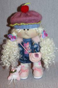Текстильная кукла блондинка
