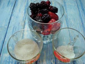 Ингредиенты для ягодной начинки