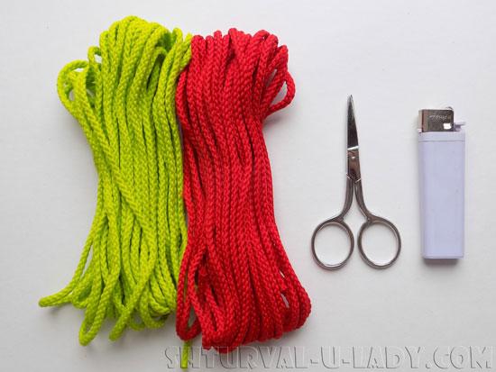 Материалы для изготовления браслета из шнуров
