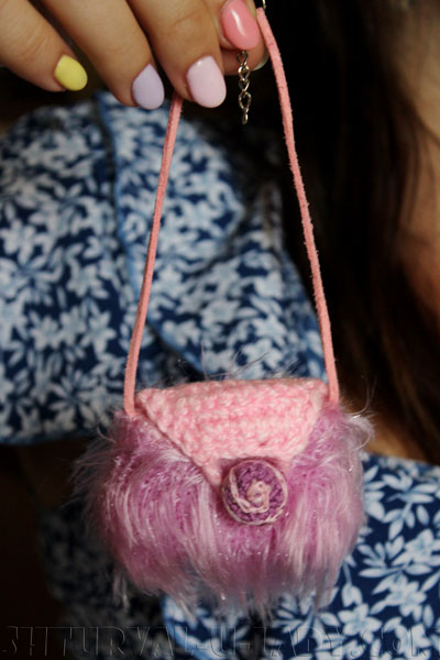 Сумка для куклы текстильной
