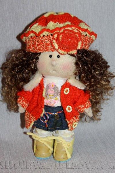 Кукла тильда в берете