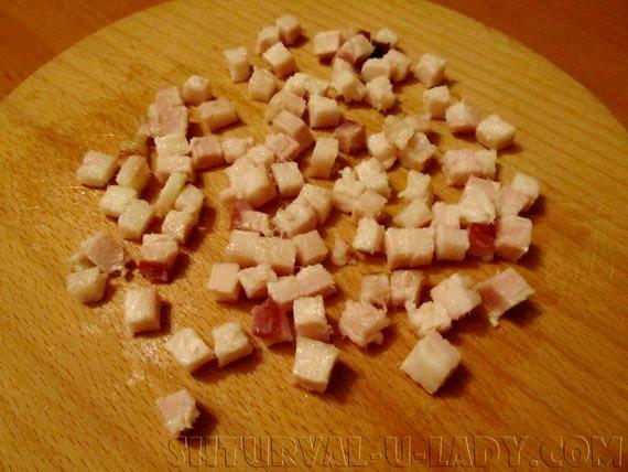 Грудинка нарезанная кубиками