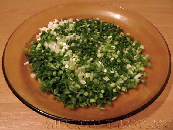Измельченный зеленый лук