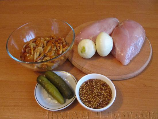 Набор продуктов для куриного рулета