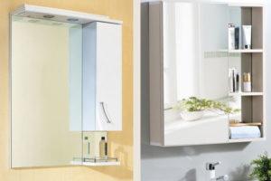 Зеркальные шкафчики для ванной