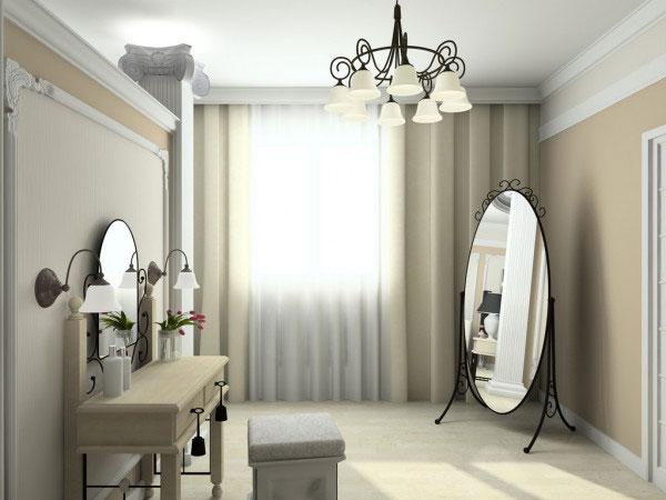 Напольное зеркало в интерьере