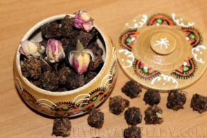 Ферментированный чай из розы, жасмина