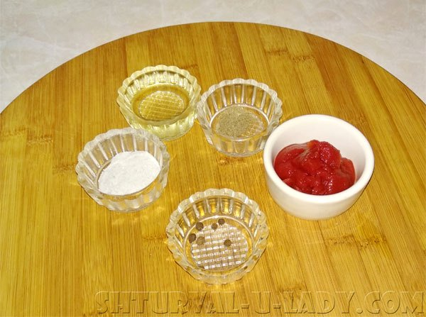 Ингредиенты для томатной заливки