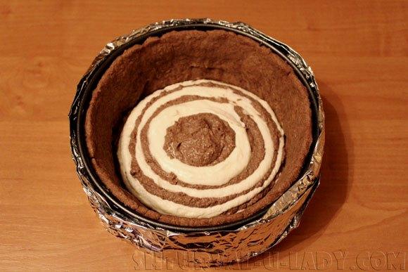 Приготовление творожно-шоколадного чизкейка