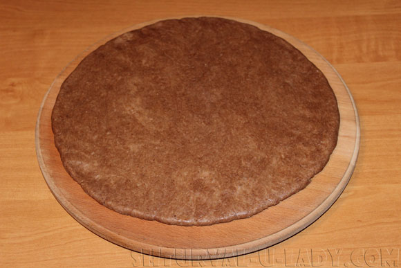 Корж из песочного шоколадного теста