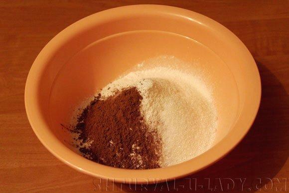 Смесь сухих ингредиентов для песочного шоколадного теста