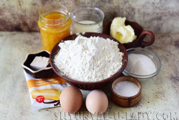 Набор ингредиентов для выпечки рогаликов