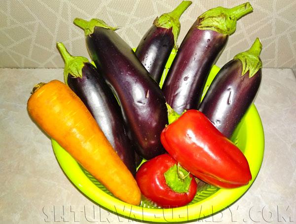 Баклажаны, перец, морковка