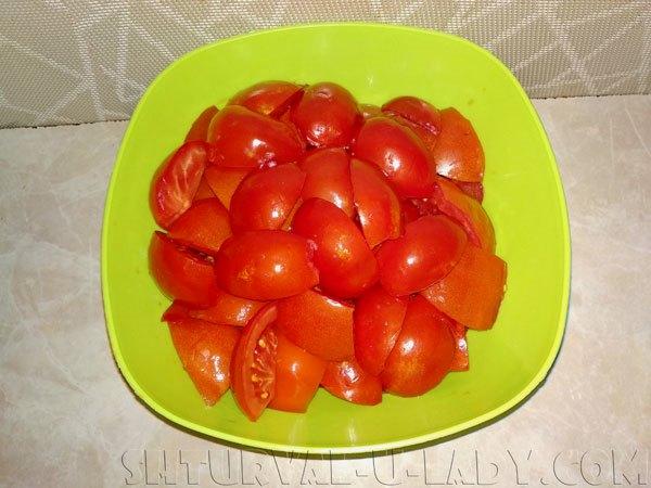 Порезанные помидоры