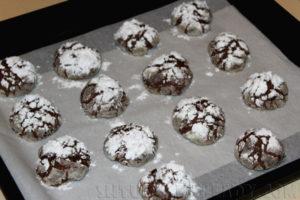 Шоколадно-снежные пряники