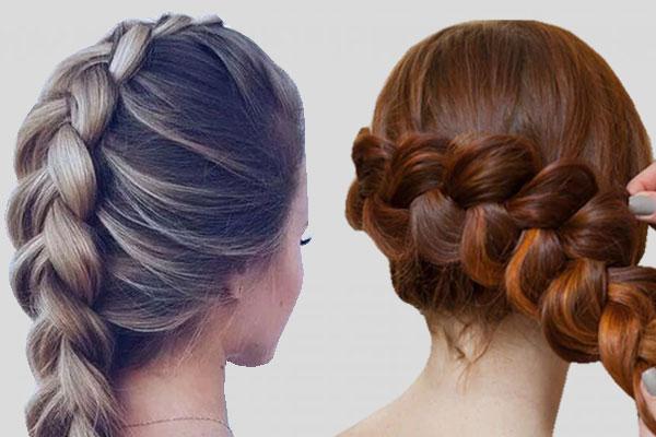 Французская коса центральная, боковая