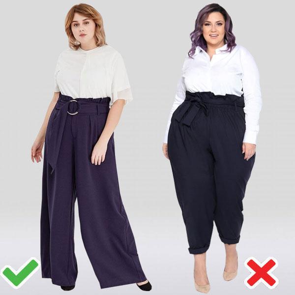 Модели брюк на девушках с пышными формами