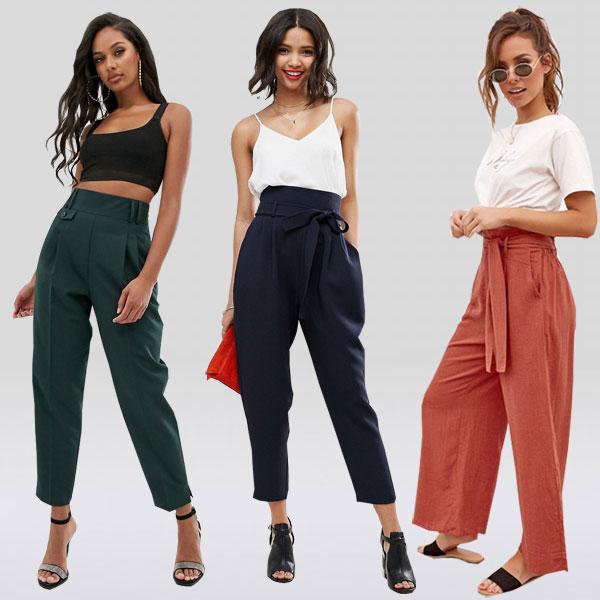 Модели брюк с высокой талией