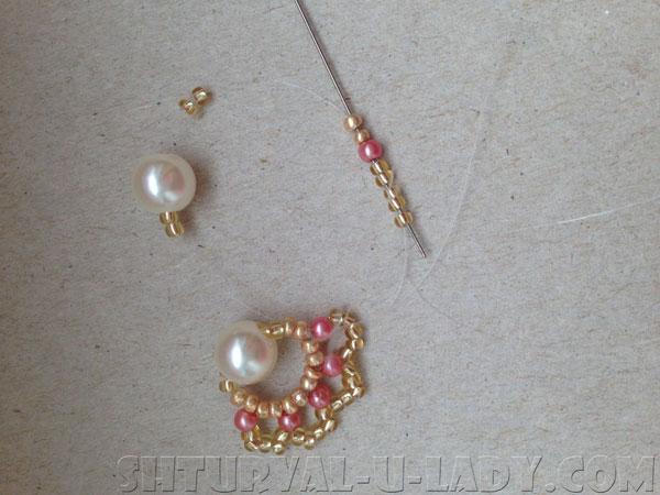 Бисерный браслет: ручное плетение