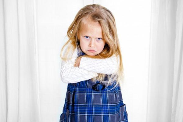 Рассерженная девочка