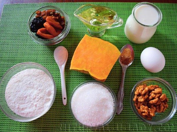 Набор продуктов для тыквенного кекса