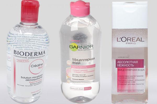 Мицеллярная вода разных брендов