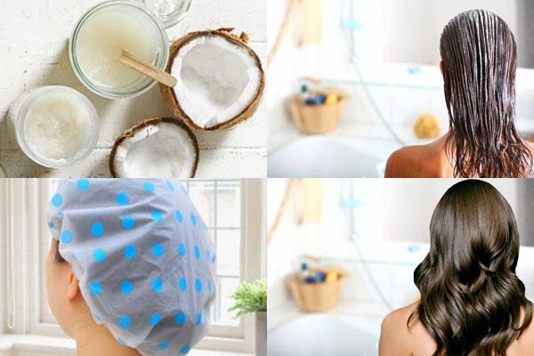 Этапы нанесения кокосового масла на волосы