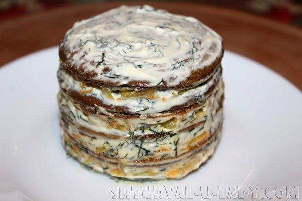 Сформированный печеночный тортик