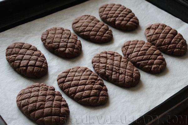 Печенье шишки после выпечки