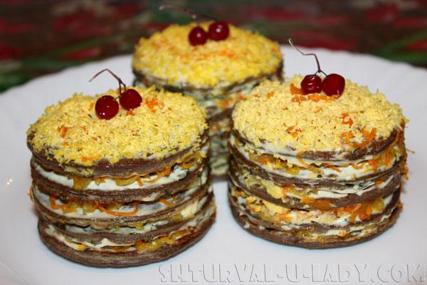 Печеночные мини тортики на праздник