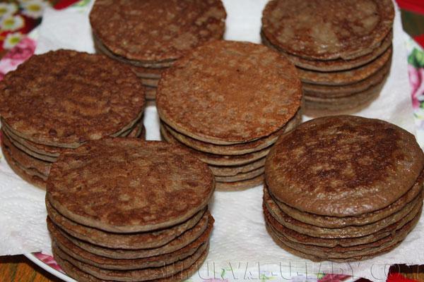 Коржи из печени для тортиков мини