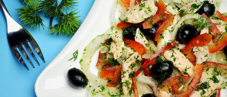 Лососевый салат с овощами