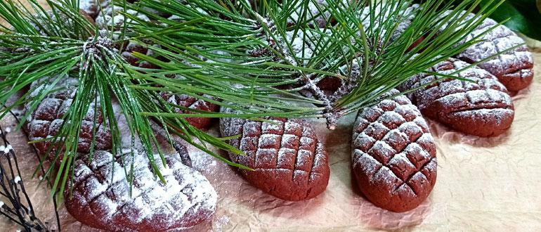 Печенье шоколадные шишки