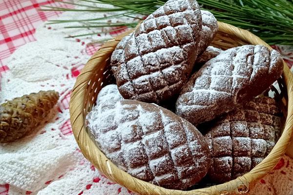 Печенье шишки под снегом
