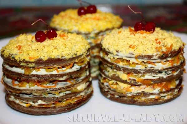 Яркие печеночные тортики